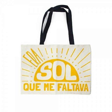 Sacola Bolsa Ecobag - Era Sol que me Faltava