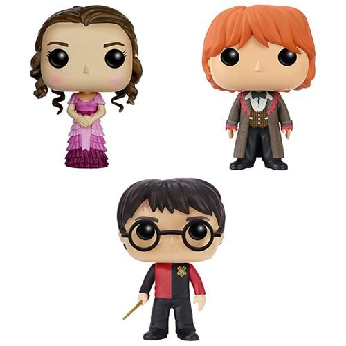 Kit Cálice de Fogo - Harry, Hermione e Ron - Funko Pop