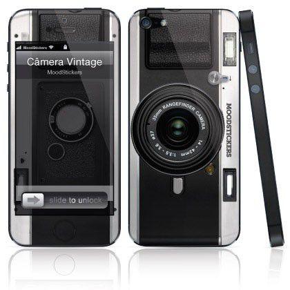 Adesivo para iPhone 5/5S/SE - Câmera Vintage