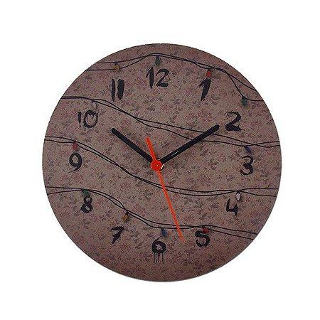 Relógio de Parede Luzes Stranger Things