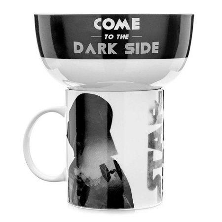 Caneca e Tigela de Cereal - Darth Vader