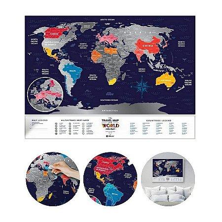 Mapa Mundi Raspadinha - Prata