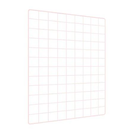 Memory Board Quadro de Fotos Rosa - 65cm x 45cm + 6 Mini Prendedores