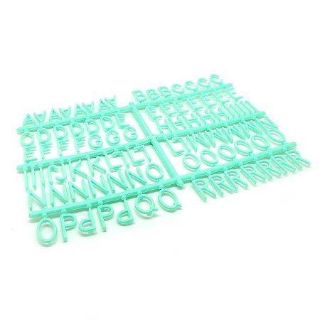 184 Letras e Números para Mural Letreiro Letter Board - Verde Água