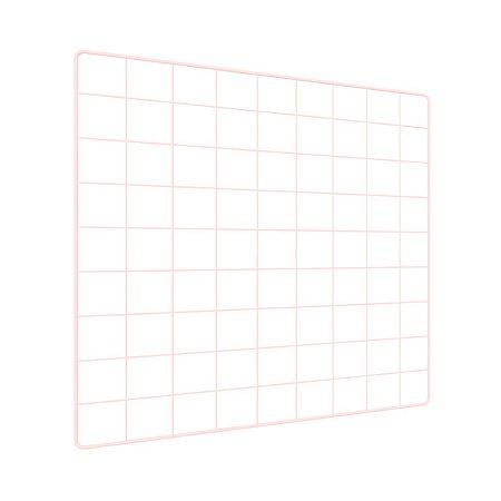 Memory Board Quadro de Fotos Rosa - 45cm x 45cm + 6 Mini Prendedores