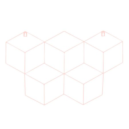 Memory Board Cubo Quadro de Fotos Rosa - 45cm x 63cm + 3 Mini Prendedores