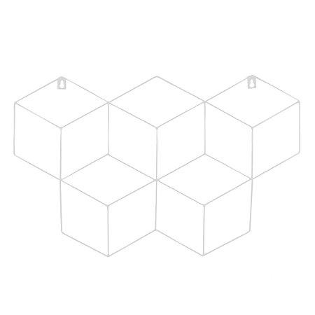 Memory Board Cubo Quadro de Fotos Branco - 45cm x 63cm + 3 Mini Prendedores