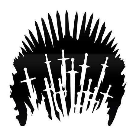 Adesivo para Sanitário Iron Throne - Game of Thrones