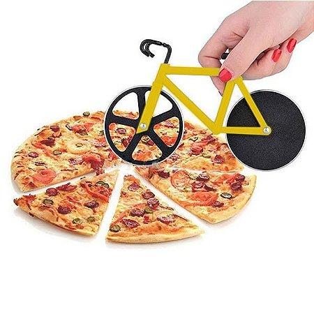 Cortador de Pizza Bicicleta Amarela