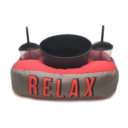 Almofada Porta Pipoca Vermelho - Relax