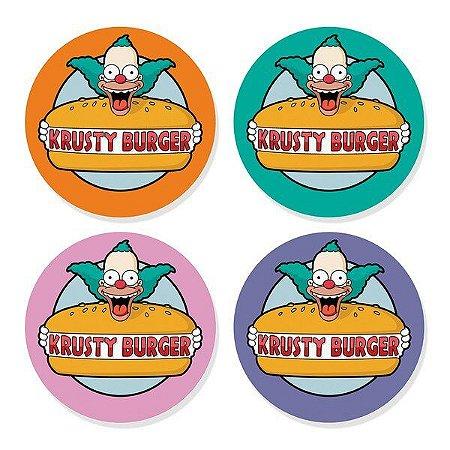 Porta Copos Krusty Burguer - 4 uni - Os Simpsons
