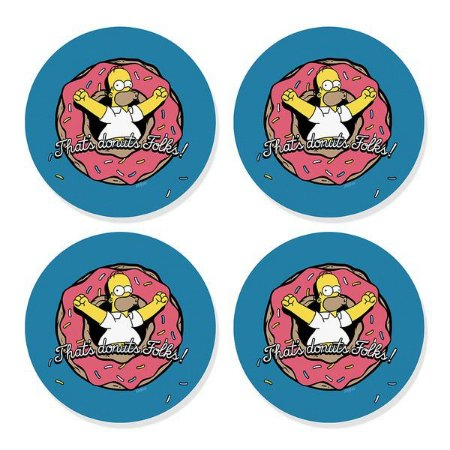 Porta Copos Homer Donuts - 4 uni - Os Simpsons