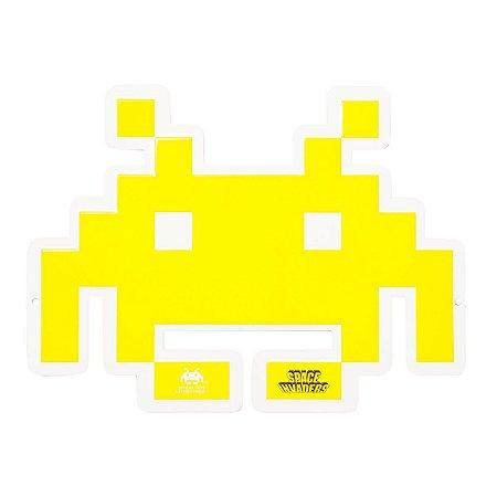 Placa Space Invaders - Metal 33cm