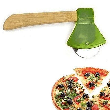 Cortador de Pizza Lenhador Machado Verde