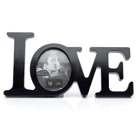Porta-retrato Love Preto