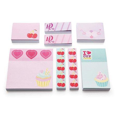 Kit Post-it de Anotações Cupcake - Capricho