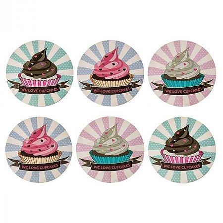 Porta Copos Cupcakes