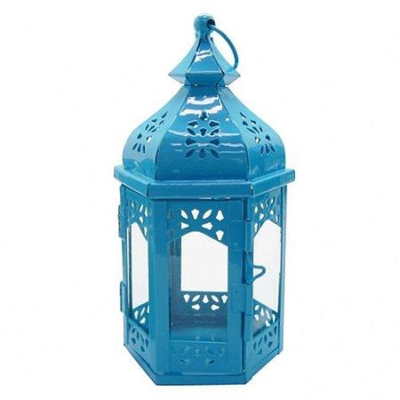 Lanterna Marroquina Azul