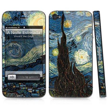 Adesivo para iPhone 4/4S - A Noite Estrelada