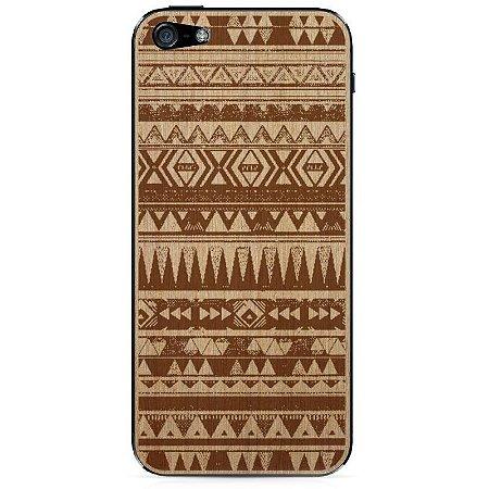 Adesivo Wood Native Marfim Linheira - iPhone 5/5S