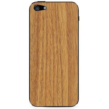 Adesivo Wood Liso Marfim Linheira - iPhone 5/5S