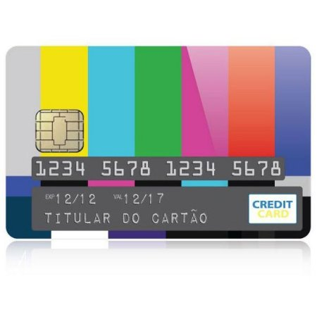 Adesivo para Cartão de Crédito - Color Bars