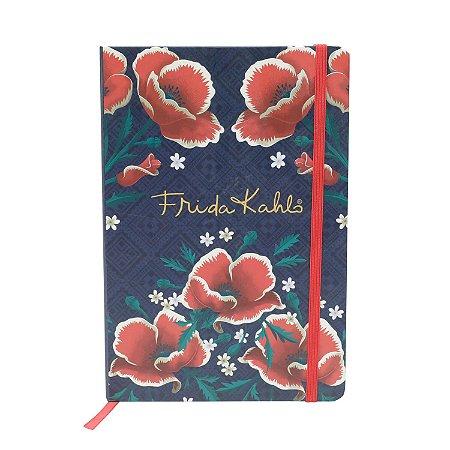 Caderneta Frida Kahlo Rosas - 14cm