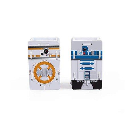 Saleiro & Paliteiro R2D2 e BB8 - Star Wars