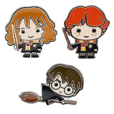 Kit Pins Harry Potter, Hermione e Ron