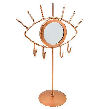 Porta Jóias - Espelho Olho Rose Gold