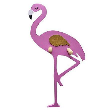 Cabideiro Gancho Flamingo Rosa