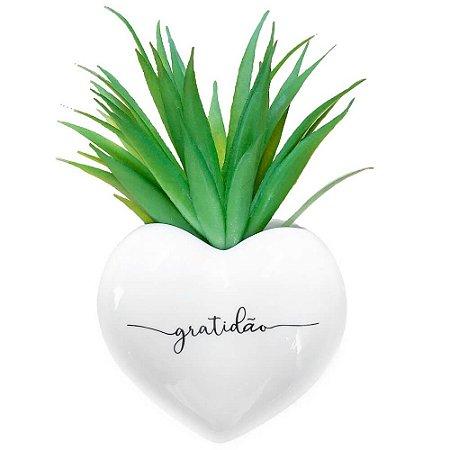 Vaso de Parede Cachepot Coração Gratidão