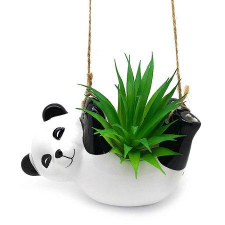 Vaso Cachepô Pendente Panda