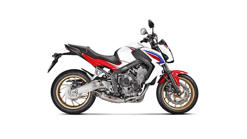 AKRAPOVIC HONDA CB 650F 2014/2018 ESCAPAMENTO RACING FULL