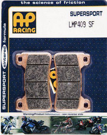 AP RACING PASTILHA DE FREIO HONDA CBR 600RR 2004 A 2016 DIANTEIRO LMP 409SF