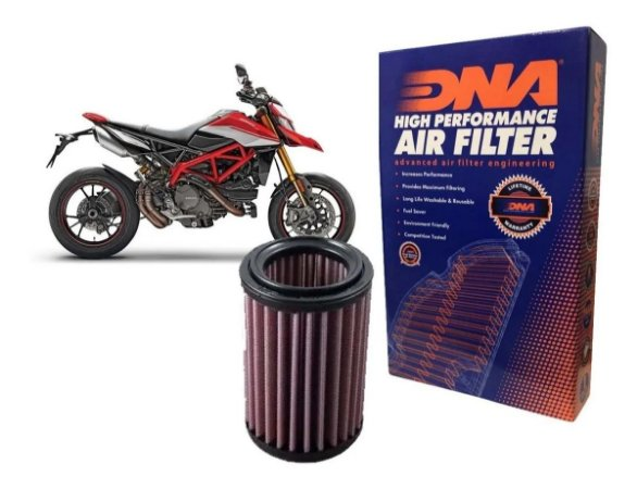 DNA DUCATI MONSTER 696 / 796 / 1200 S / HYPERMOTARD 796 / MULTISTRADA 1200 / MONSTER 1100  FILTRO DE AR R-DU10SM07