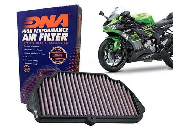 DNA KAWASAKI ZX 6R 636 FILTRO DE AR DE ALTA PERFORMANCE 2009/2021 P-K6S09-0R