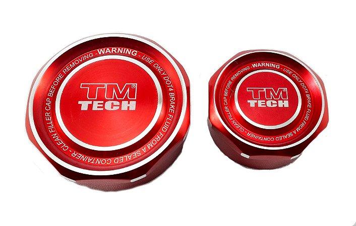 Tampa Reservatório De Óleo Tm Tech Pequena Vermelha