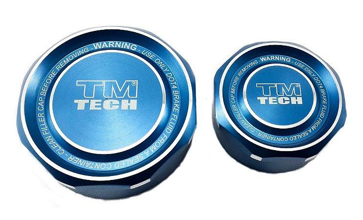Tampa Reservatório De Óleo Tm Tech Pequena azul