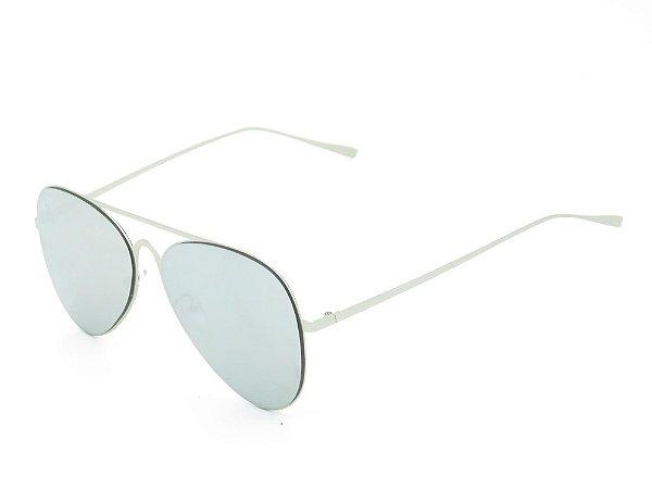 Óculos Solar Prorider Prata com lente espelhada 3889