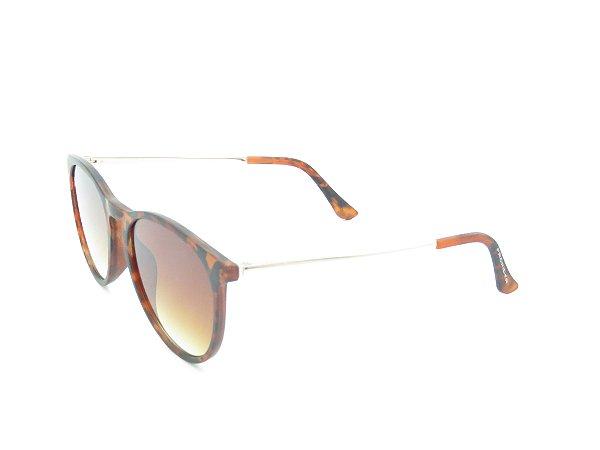 Óculos Solar Prorider Animal Print com Dourado e Lente Degradê
