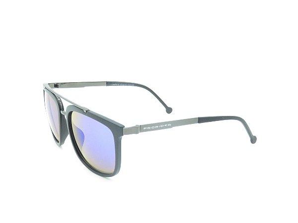 Óculos Solar Prorider Preto Fosco com Grafite e Lente Espelhada