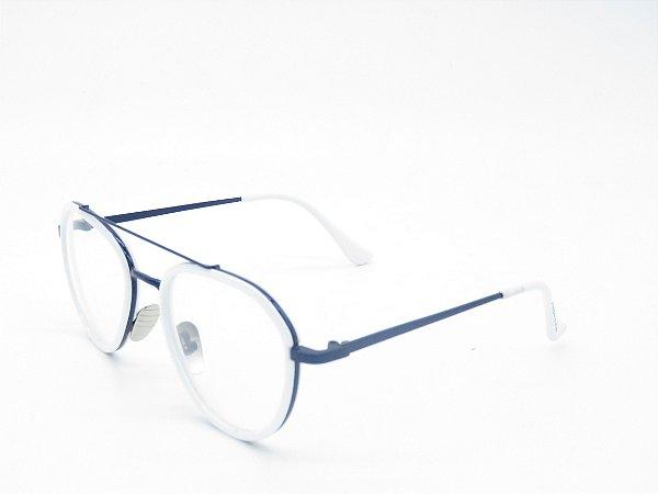 Óculos receituário Prorider Branco e Azul - 4983
