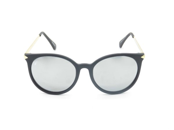 Óculos solar Prorider preto com lente espelhada prata 5269