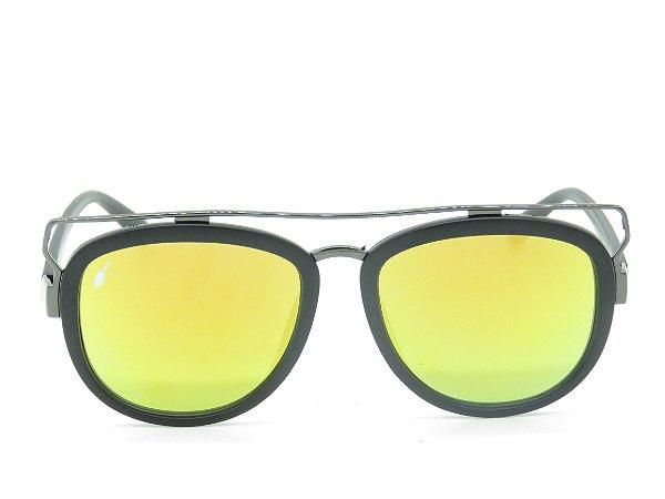 Óculos solar Prorider preto com lente espelhada 5264