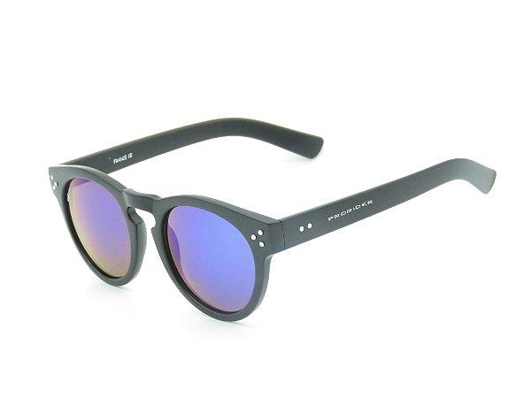 Óculos solar Prorider preto fosco com lente espelhada 5267