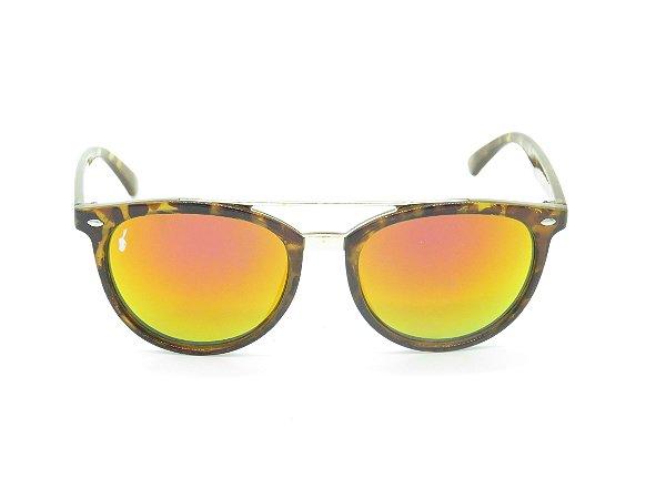 Óculos solar Prorider marrom com detalhe de onça 5280