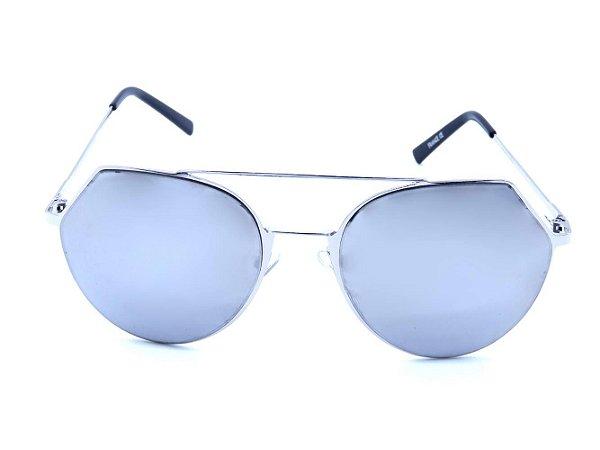 Óculos solar Prorider prata com lente espelhada prata  H01578
