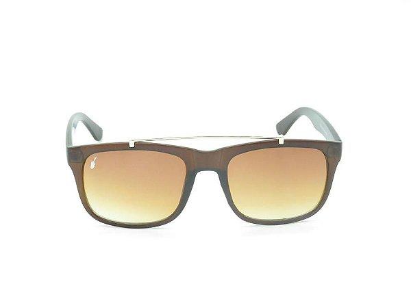Óculos solar Prorider marrom fosco com detalhe em dourado  YD1674C5