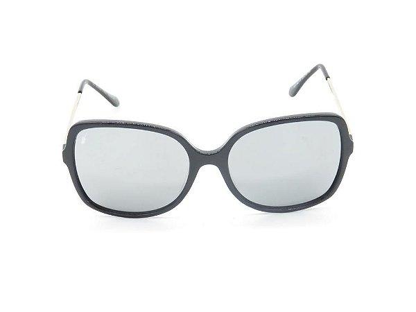 Óculos solar Prorider preto fosco com lente espelhada prata YD1762C4